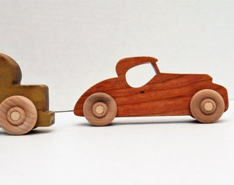Toy cars,wooden car, wooden toy car, Set of 3, handmade, eco friendly, child safe, durable, scrollsawed, hardwood toy cars