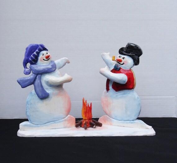 snowman winter decor country home decor wooden snowman