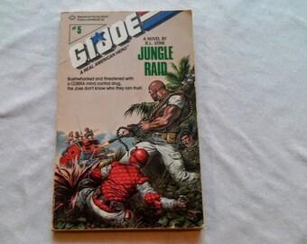 "Vintage Young Adult Paperback, ""G.I. Joe: Jungle Raid"" written by R.L. Stine, 1988"