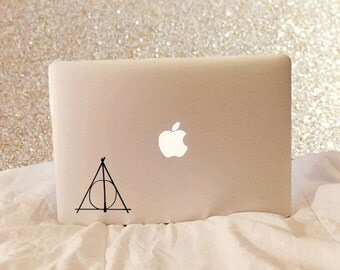Deathly Hallows Symbol - Laptop Decal - Macbook Decal - Laptop Sticker - Macbook Sticker - Car Decal - Car Sticker - Harry Potter Decal