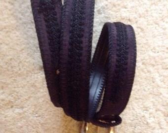 Elite Ladies belt  /  Vintage Black Fashion Belt Size Small Medium  /  Free Shipping USA  /  Cheapvintagefashion
