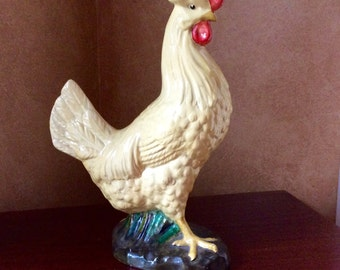Vintage Chalkware  Yellow Chicken