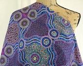 Australian Aboriginal Print Fabric--Wild Bush Flowers Purple--Aboriginal Design--Cotton Quilt Fabric--Australian Fabric by the HALF YARD