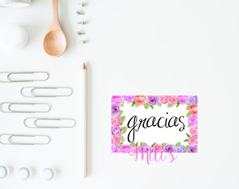 Thank you card SPANISH - Digital - Tarjeta de gracias - INSTANT DOWNLOAD