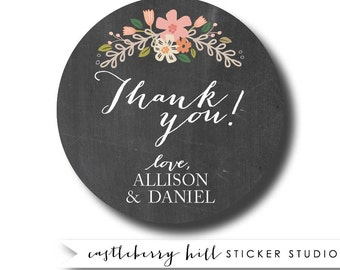 Chalkboard wedding stickers, chalkboard stickers, chalkboard gift tags, wedding favor tags, personalized wedding stickers, labels chalkboard