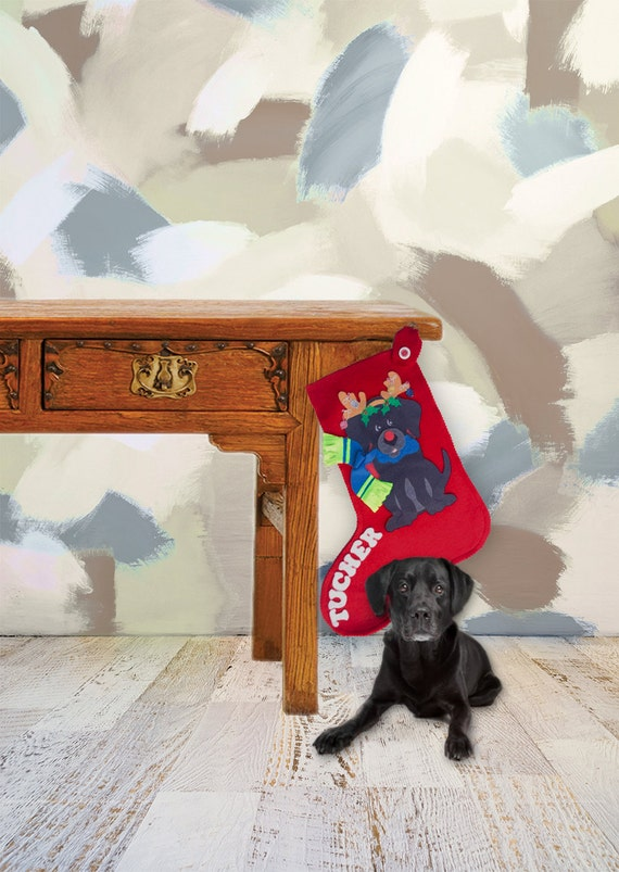 Dog Personalized Stocking from Etsy