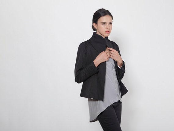 Black Blazer Jacket, Womens Jacket, Designer Jacket, Cape Jacket, Summer Jacket, Black Jacket, Womens Blazer, Fashion Jacket, Goth Jacket
