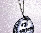 Fußball-Ornament mit Spielers Nummer & Namen - Teamgeist, Geschenke für Fußball-Spieler, Mütter, Teenager, Christbaumschmuck personalisiert