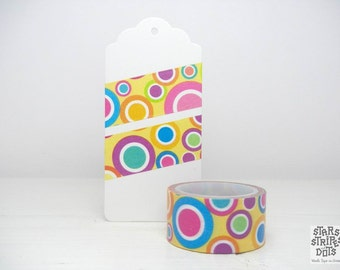 Wide Washi Tape multicolored dots, size: 2 cm wide x 5 m long