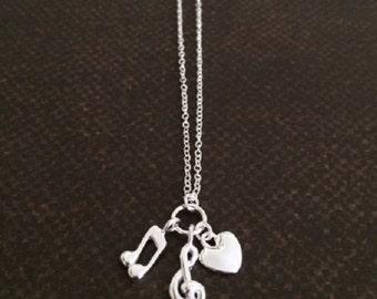 Music Gift - Music Note - Music Jewelry - Music Necklace - Music Note Necklace - Music Note Jewelry - Music Lover Gift - Music Teacher Gift