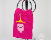 """Adventure Time """"Princess Bubblegum"""" Inspired - Embroidered Hand Towel"""