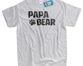 Papa Bear T-Shirt Fathers's Day T-shirt Papa Bear Paw t-Shirt Gifts for Dad Gifts for Papa Screen Printed tee Shirt Mens Womens Youth Kids