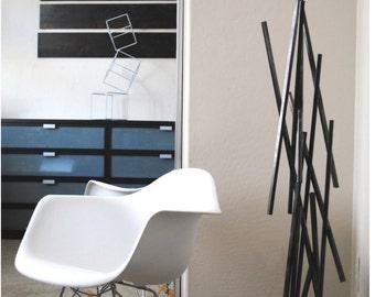 Metal Brutalist Abstract Art Sculpture Modern Retro Floor Standing Decor Contemporary Mid Century Modernist 50s 60s by Petrykowski Artworks