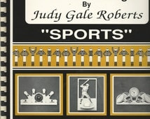 "Vintage SPORTS SCROLLS SAW Fretwork Pattern Book - Fine Line Design by Judy Gale Roberts - c. 1993 - Patterns printed on 9 x 11"" & 11 x 17"""