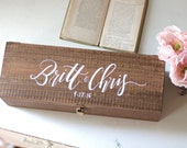 Custom Wedding Wine Box, Ceremony Wine Capsule, Wedding Wine Box, Rustic Wedding, Wedding Gift, Anniversary Gift, B-1