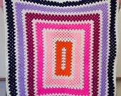 Crocheted Baby Blanket - Sunrise Granny Rectangle