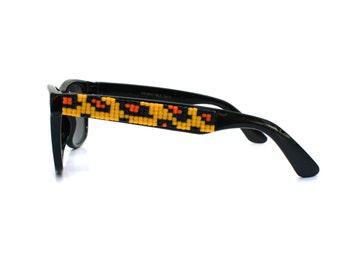 Children's Sunglasses, Cheetah Print Sunglasses, Beaded Sunglasses, Wayfarer Sunglasses, Ray Ban Style, Kids Sunglasses, Unique Childs Gift