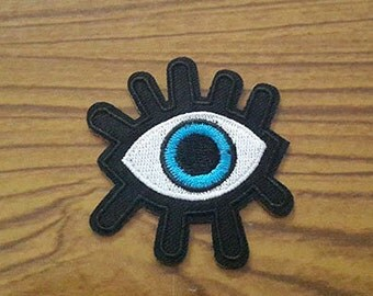 Eye Patch, Eye Iron on Patch, Eye Applique Embroidered Iron on Patch (S)