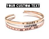 Custom Cuff. Thin Cuff Bracelet. My religion is kindness. Dalai lama quote. Yoga Jewelry. Dainty. Custom Jewelry