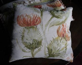 Thistle cushion - autumn