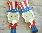 4th of July Gift Tags, Uncle Sam, Paper Piecing, Patriotic Tags, Independence Day, Red White and Blue, Holiday Tags, America Gift,