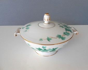Blue Ivy-Aladdin China-Occupied Japan-Covered Sugar Bowl