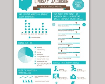Infographic Resume Design | Custom Colors Available | Set Yourself Apart | Infograph Resume | Picture Resume | Icon Resume