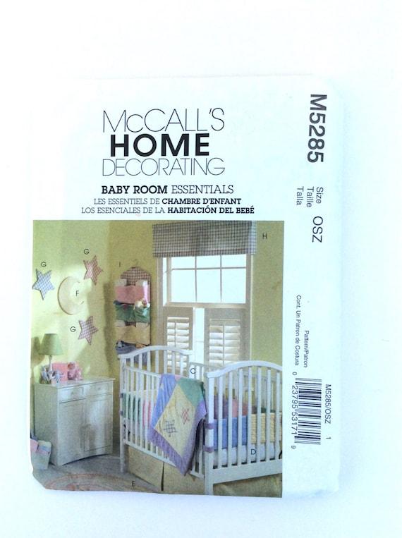 Baby Bedroom Essentials: McCall's M5285 Baby Room Essentials Pattern Nursery