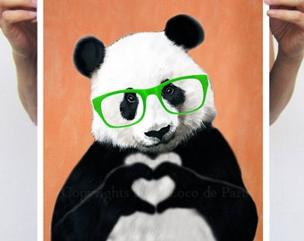 Panda Illustration by Coco de Paris, digital Art
