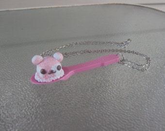 Kawaii Bear Ice Cream Scoop Spoon Necklace