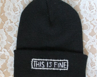 BEANIE / TOQUE embroidered punk patch winter hat