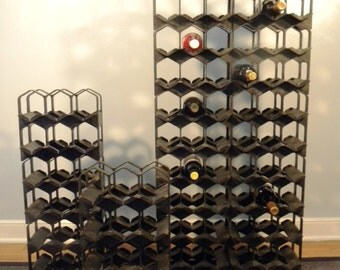 Vintage Mid Century Modern Modular Wine Racks