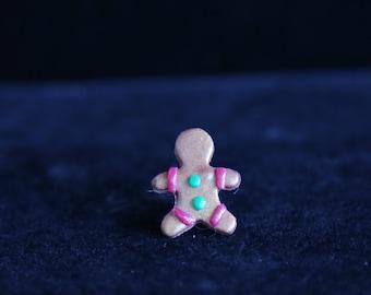 Gingerbread Man Stud Earrings