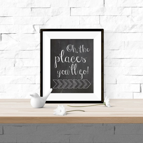 It is a graphic of Clever Oh the Places You'll Go Arrows Printable