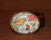 Women's Belt Buckle -  Birdy Blue