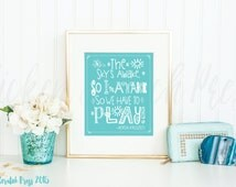 The skys awake so I'm awake, so we have to play, Anna, Frozen, Instant download, playroom,home decor, wall print,Typography, child art