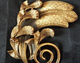 Vintage Torolani Brass Plated Brooch