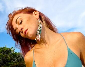 The Alicia- Long Looped Single Seed Bead Earring