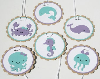 Under the Sea Gift Tags - set of 12 - Mermaid Party