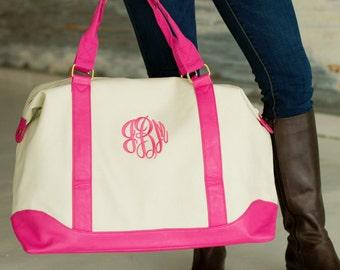 Sullivan Canvas Embroidered Weekender Bags - Monogrammed Weekender Bag - Monogrammed bag - Monogrammed travel bag - Monogrammed tote