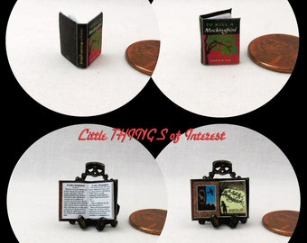1:24 Scale To KILL A MOCKINGBIRD Miniature Book Dollhouse Scale Book