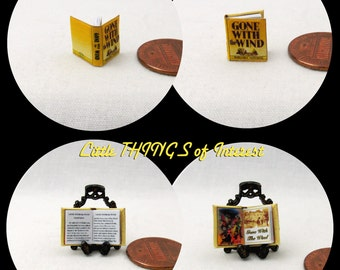 1/24 Scale GONE With The Wind Miniature Book Dollhouse Book
