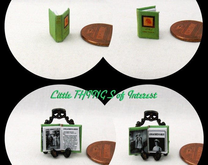1/24 Scale ANNE Of Green Gables Miniature Book Dollhouse Scale Book