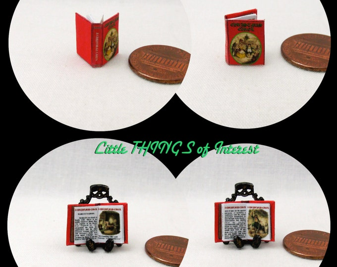 1/24 Scale Book A CHRISTMAS Carol Miniature Book Dollhouse Illustrated Book Half Inch ScaleLyric Noel Celebration Holiday Christ Born