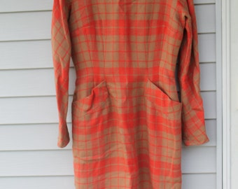 Vintage Anne Fogarty Lined Wool Dress