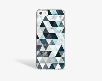 iPhone SE Case Clear Marble iPhone 7 Case Clear Marble iPhone 6S Case S7 Edge Case Mint Aqua Geomtric Pattern Marble PRINT not Real Marble
