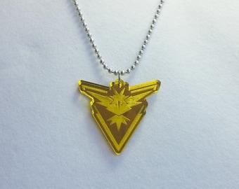 Pokemon GO Team Instinct Necklace or Keychain
