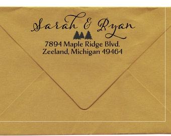 Custom Address Stamp, wooden handled, Zeeland