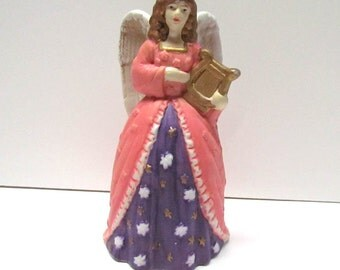 Vintage Angel Bell Figurine - Home Decor - Collectibles