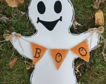 Halloween door hanger, Halloween wreath, ghost door hanger, fall wreath, Halloween Decor, fall decor, door hanger, Halloween wreath for door